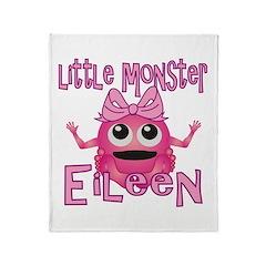 Little Monster Eileen Throw Blanket