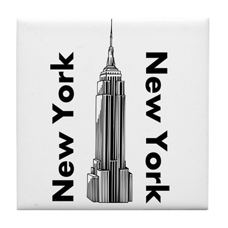 New York New York Tile Coaster