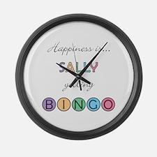 Sally BINGO Large Wall Clock