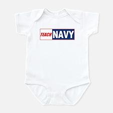Teach Navy Infant Creeper