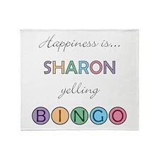 Sharon BINGO Throw Blanket