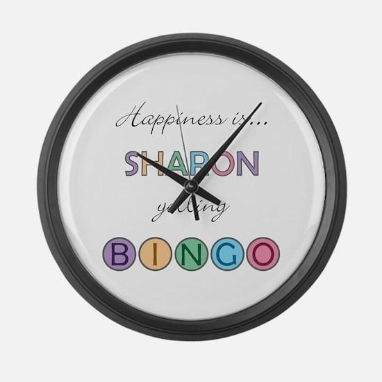 Sharon BINGO Large Wall Clock