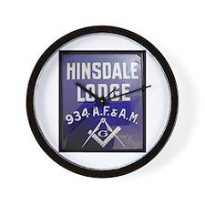 Hinsdale Lodge Wall Clock