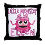 Little Monster Ellen Throw Pillow