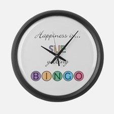 Sue BINGO Large Wall Clock