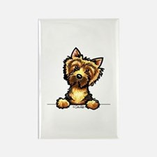 Norwich Terrier Line Art Rectangle Magnet