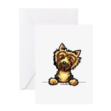 Norwich Terrier Line Art Greeting Card