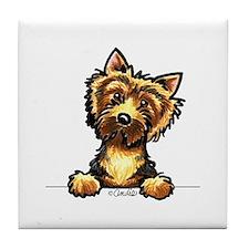 Norwich Terrier Line Art Tile Coaster