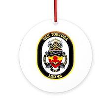 USS Tortuga LSD 46 Ornament (Round)