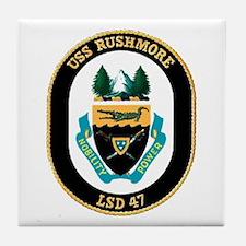 USS Rushmore LSD 47 Tile Coaster