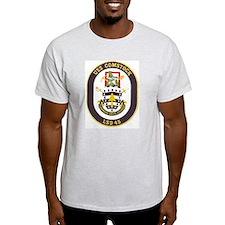 USS Comstock LSD 45 Ash Grey T-Shirt