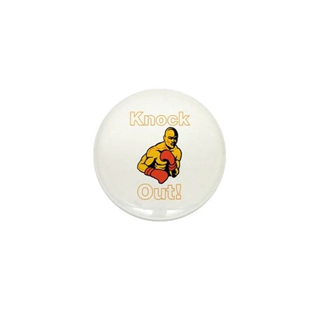 Knock Out Boxing Mini Button