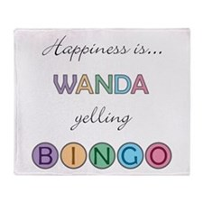 Wanda BINGO Throw Blanket