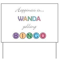 Wanda BINGO Yard Sign