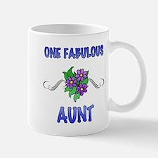 Fabulous Floral Aunt Mug