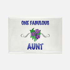 Fabulous Floral Aunt Rectangle Magnet