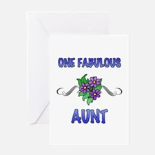 Fabulous Floral Aunt Greeting Card