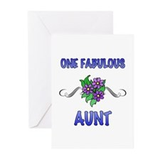 Fabulous Floral Aunt Greeting Cards (Pk of 20)