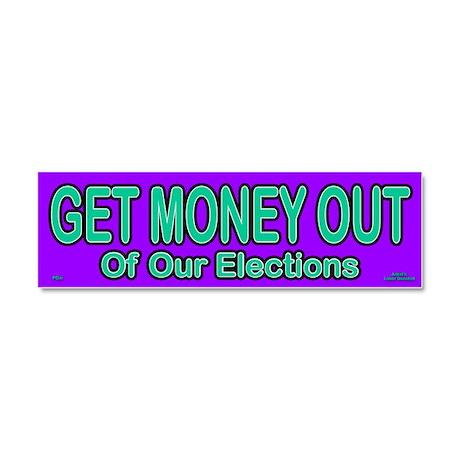 Get Money Out Car Magnet 10 x 3