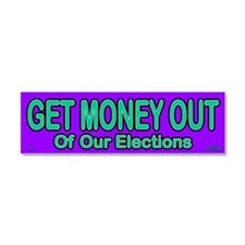 Get Money Out Car Magnet 10 x 3