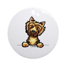 Norwich Terrier Line Art Ornament (Round)