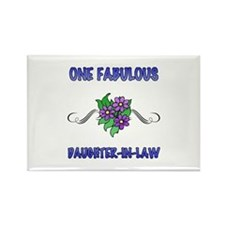 Fabulous Floral Daughter-In-Law Rectangle Magnet