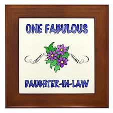 Fabulous Floral Daughter-In-Law Framed Tile