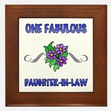 Fabulous Floral Daughter-In-Law Framed Tile