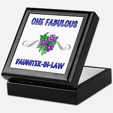 Fabulous Floral Daughter-In-Law Keepsake Box