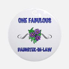 Fabulous Floral Daughter-In-Law Ornament (Round)