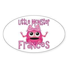 Little Monster Frances Sticker (Oval)