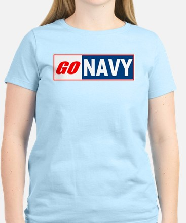 Go Navy Women's Pink T-Shirt
