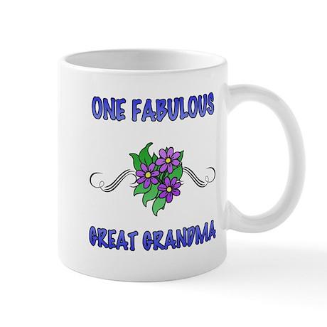 Fabulous Floral Great Grandma Mug