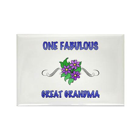 Fabulous Floral Great Grandma Rectangle Magnet (10