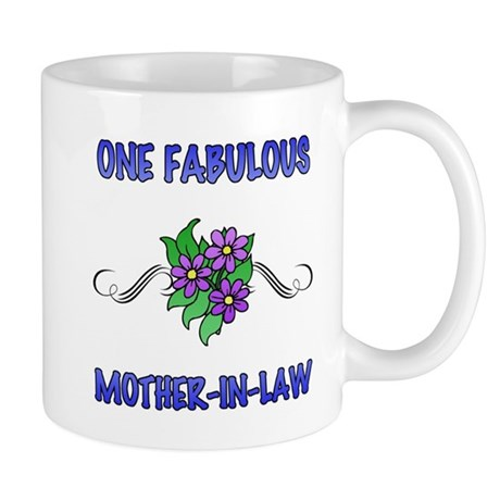 Fabulous Floral Mother-In-Law Mug