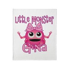 Little Monster Gina Throw Blanket