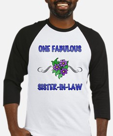 Fabulous Floral Sister-In-Law Baseball Jersey