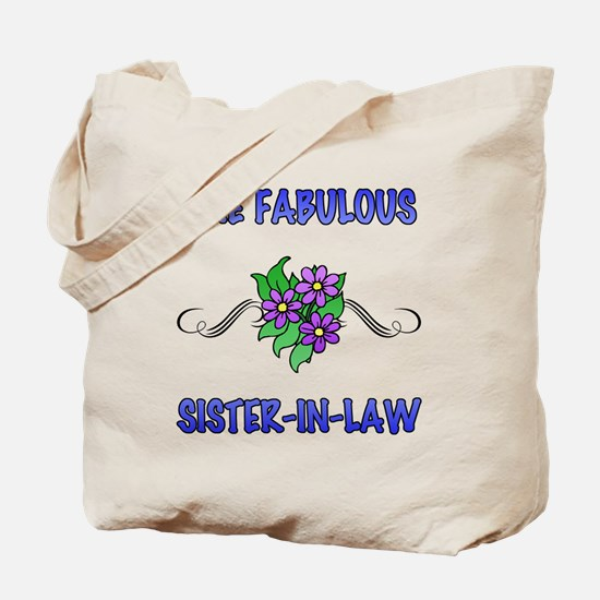 Fabulous Floral Sister-In-Law Tote Bag
