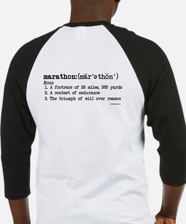 Marathon Definition Baseball Jersey