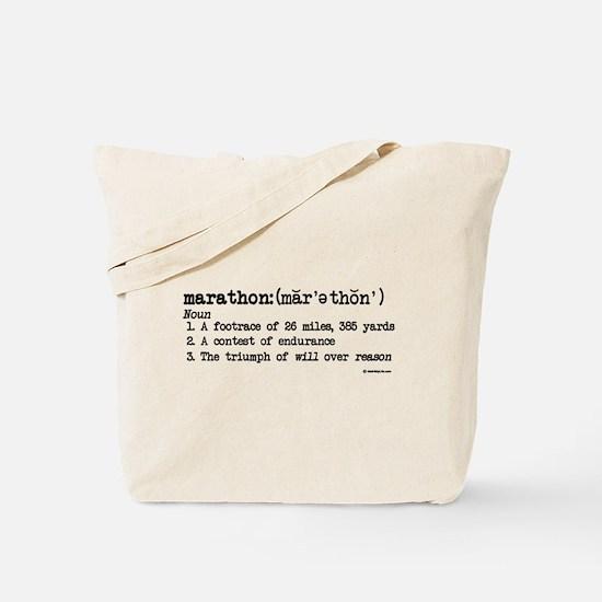 Marathon Definition Tote Bag
