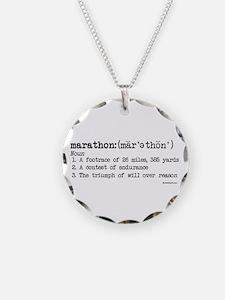 Marathon Definition Necklace