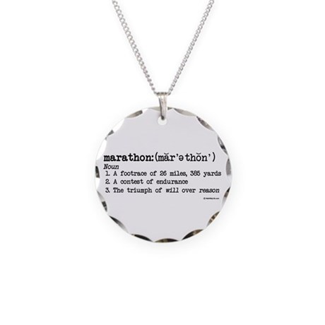Marathon Definition Necklace by mall4mylife