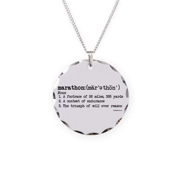 marathon definition necklace circle charm by mall4mylife
