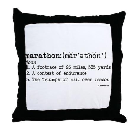 Marathon Definition Throw Pillow