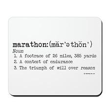 Marathon Definition Mousepad