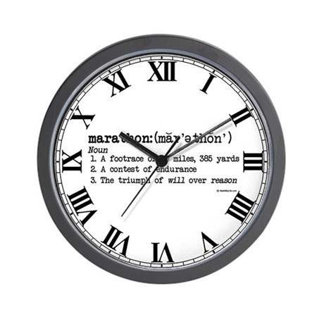 Marathon Definition Wall Clock
