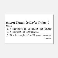 Marathon Definition 22x14 Wall Peel
