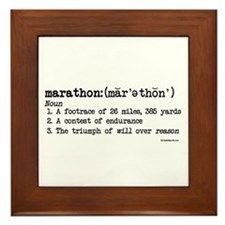 Marathon Definition Framed Tile