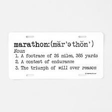 Marathon Definition Aluminum License Plate