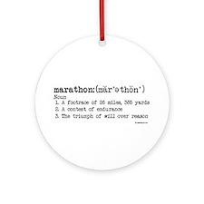 Marathon Definition Ornament (Round)